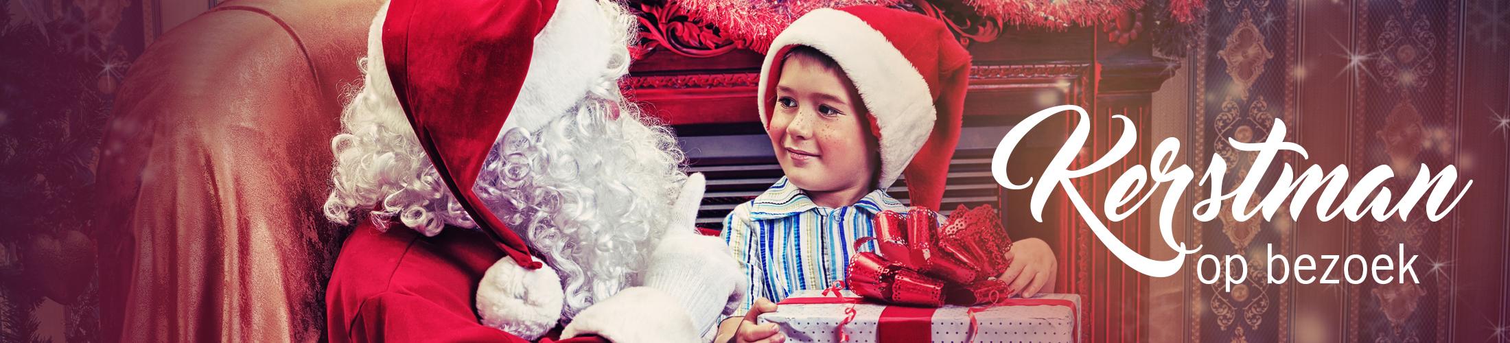 kerstman op bezoek, huisbezoek kerstman, winkelcentrum