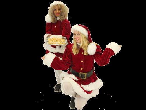 Kerstentertainment, kerst traktatie, kerstpromotie, kerst winkelcentrumpromotie, kerst entertainment